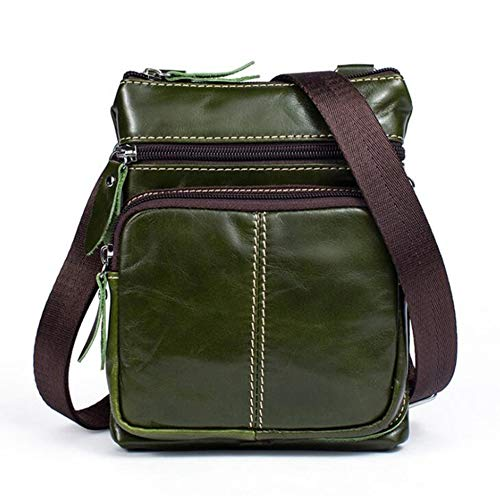 A Small Pack Sxuefang Crossbody Uomo Borsa In Bag 20x3x16cm B Maschile Pelle Business Retrò Casual Spalla Zipper Tracolla wAgpHWp6q