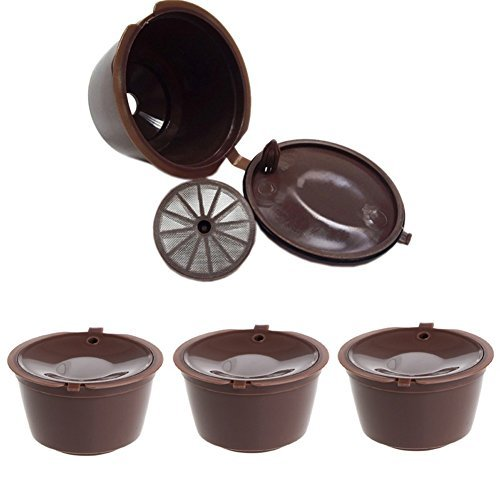 Amrka Coffee Capsule Pod Filter For Nescafe Dolce Gusto Machine Cups Refillabl Pack of 3