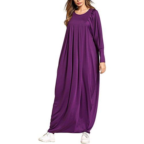Choix Zhhlinyuan Multi-robes En Vrac Cocktail Musulmans Robes De Fête Dinde Arab Dubai Occasionnel Usage Quotidien Violet
