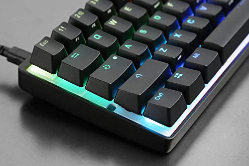 Mechanical Gaming Keyboard Vortexgear Pok3r 60 , ABS Double Shot Translucent Keycaps, RGB LED Backlit, 61 Keys Aluminium CNC Casing Cherry Mx Silent Red