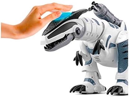 Amazon.es: RCTecnic Dinosaurio Robot Teledirigido RoboRex ¡Lanzacohetes, Sonidos y LEDs! | Tiranosaurio Rex Programable Mascotas Electrónica Juguetes para Niños | T Rex Robótica Radio Control