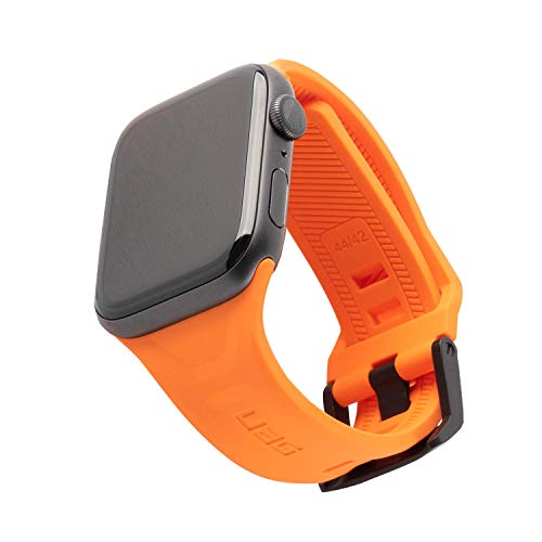URBAN ARMOR GEAR UAG Compatible with Apple Watch 44mm 42mm Series 5/4/3/2/1 Silicone Band Scout [Orange] Slim Adjustable Waterproof Sporty Replacement Watch Strap