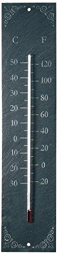 Esschert Design USA LS006 Slate Wall Thermometer