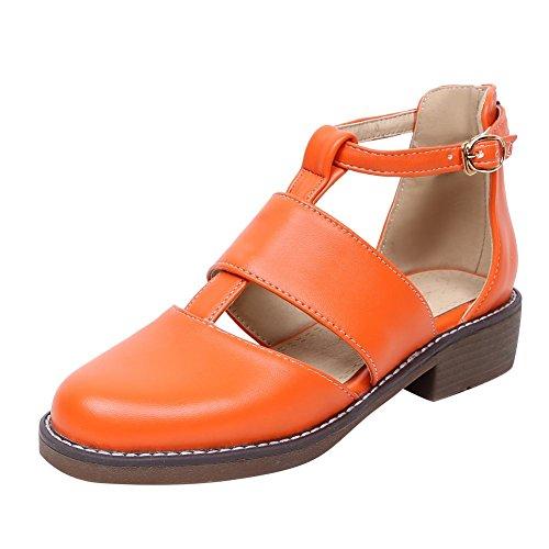 Johannesbroeken Damesmode Mode Comfort T-strap Casual Lage Hakken Oranje