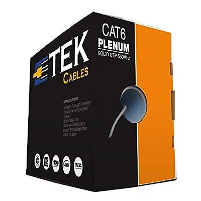 Image of 1000FT Cat6 Plenum Gray CMP 550Mhz 10Gigabit EIA TIA ETL Network Ethernet Solid Cable Cat 6 Cables