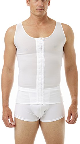 Underworks Mens Gynecomastia Chest Binder Vest Large White