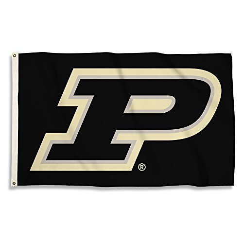 Purdue Boilermakers Banner Flag - NCAA Purdue Boilermakers Unisex NCAA 3 X 5 Foot Flag with Grommets, Gold, One Size