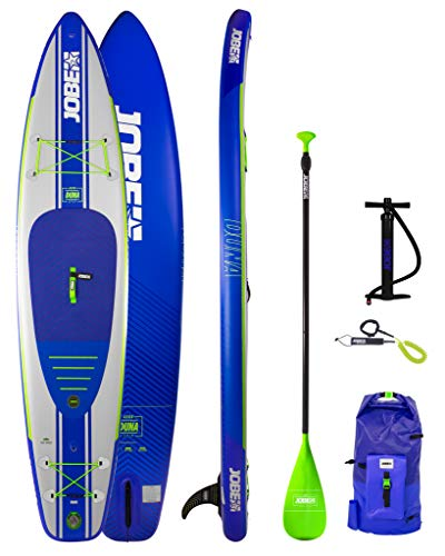 Jobe Duna Inflatable Stand Up Paddle Board SUP 11'6 x 31 INC Paddle, Backpack, Pump & Leash/Strap – Blue – Waterproof