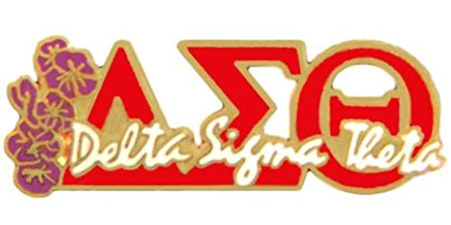 Delta Sigma Theta Greek Letters, Script and African Violet Lapel Pin