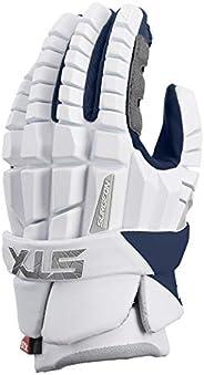 STX Lacrosse Surgeon RZR Gloves, Large, White/Navy