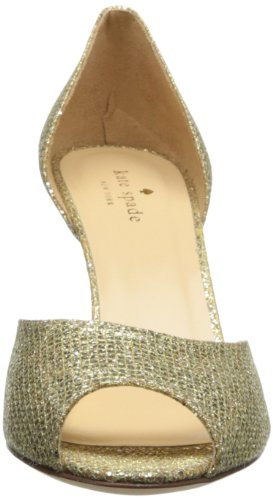 Kate Spade New York Womens Sage Dorsay Pump Oro