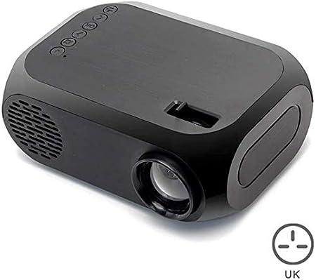 Opinión sobre 1080P mini proyector, proyector de vídeo LED del hogar del proyector de cine en casa Pico Proyector con Interfaces AV USB HDMI y mando a distancia para niños presentes entretenimiento al aire libre