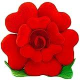 Plush Creative Comfortable Rose Office Cushion Car Bolster ( red )