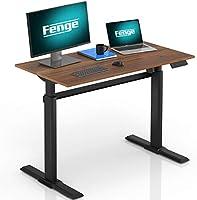 Fenge 電動昇降デスク スタンディングデスク 昇降デスク 高さ調節 パソコンデスク 天板入り セット商品 ED-S48101WB