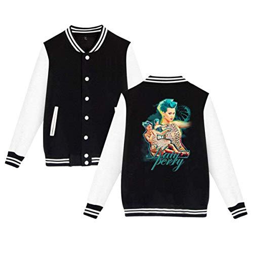 RS-pthrAC Katy Perry Mens & Womens Cool Hoodie Baseball Uniform Jacket Sport Coat -