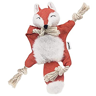 Fox-Dog-Toy-with-Squeaker-Stuffless-Dog-Toy-Crinkle-Hunting-Dog-Toy-Plush-Durable-Dog-Squeaky-Toys-Cotton-Rope-Dog-Toy-Throughout-the-Body-Cute-Dog-Chew-Toys-for-Puppies-with-Eyes-Embroidery-Design