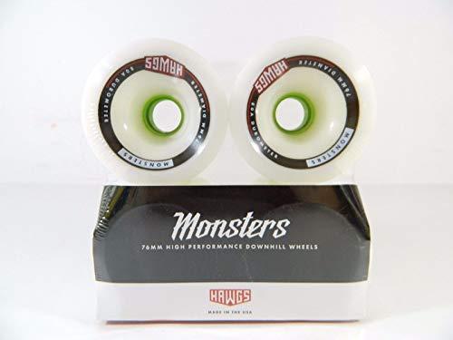 Good Skateboard Monster 76Mm 80A Pro Longboard Wheels Set of 4 White
