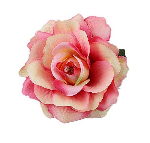 - DreamLily Rose Flower Hair Clip Flamenco Dancer Pin up Flower Brooch BC10 (z-Peach)