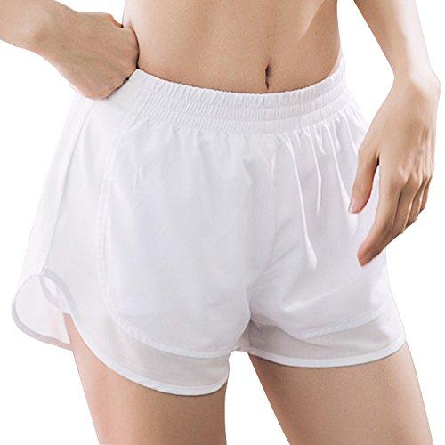 MTSCE Women's Yoga Shorts Yoga Pants Gym Workout Running Shorts (Large, -