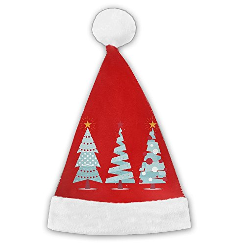 Bdna Velvet Santa Claus Hat Colorful Christmas Tree Merry Christmas Hats Adults Children Costume XMas Decor Party Supplies Small (Christmas 2017 Tesco)