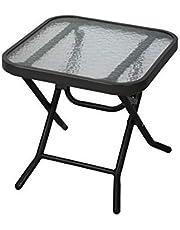 Havnyt Folding Outdoor Black Coffee Table Garden Patio Side Table Metal