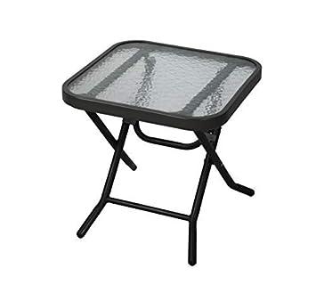 Havnyt Pliable extérieur Noir Table Basse de Jardin terrasse ...