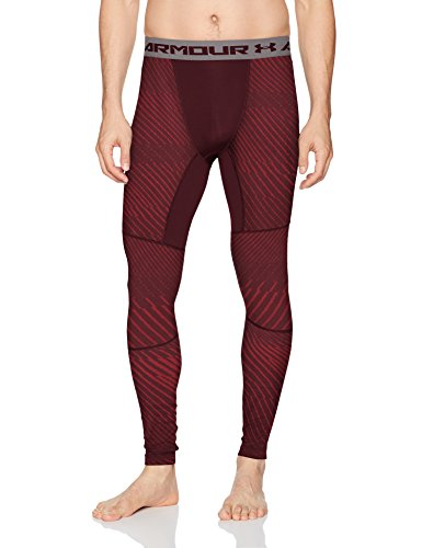 Under Armour Men's Coldgear Jacquard Compreshort Sleeveion Leggings,Raisin Red (916)/Graphite, Small