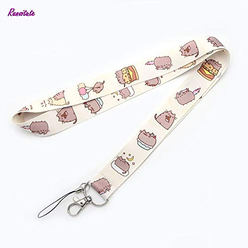 (Mobile Phone Straps - Cartoon cat Mobile Phone Straps Neck for Keys ID Card Phone USB Badge Holder DIY Hang Rope Webbing - by Daicaffar - 1 PCs)