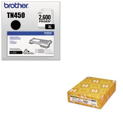 KITBRTTN450NEE06511 - Value Kit - Neenah Paper Classic Laid Stationery Writing Paper (NEE06511) and Brother TN450 TN-450 High-Yield Toner (BRTTN450) by Neenah