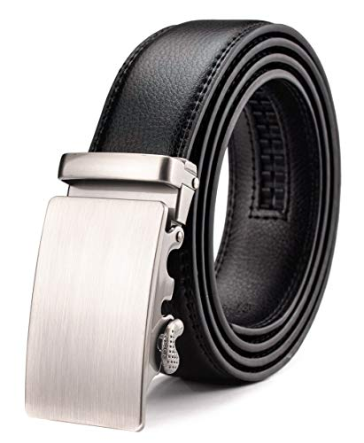 Xhtang Men's Ratchet Belt Automatic Buckle Genuine Leather belt 35mm Wide S