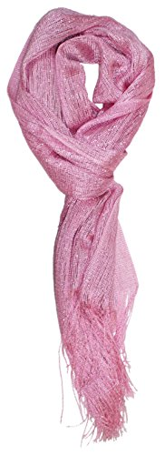 Ted and Jack - Saturday Night Sparkle Knit Shimmer Scarf (Pale Pink) ()