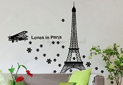 Carcasa PopDecals - de la torre Eiffel (Loves en París) 39in - adhesivo de