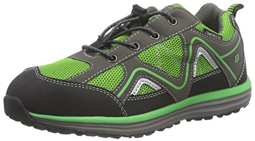 Bruetting Minnesota - Zapatillas de Trekking y Senderismo de Material Sintético Niños^Niñas verde - Grün (grün/grau)