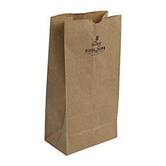 Duro 18408 SOS Bag 35# 100% Recycled Natural Kraft, 500 Piece