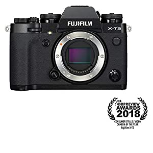 Fujifilm X-T3 Mirrorless Digital Camera (Body Only, Black) Memory Card and Bag
