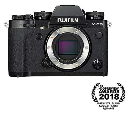 "Fujifilm X-T3 26.1 MP Mirrorless Camera Body (APS-C X-Trans CMOS 4 Sensor, X-Processor 4, EVF, 3"" Tilt Touchscreen, Fast & Accurate AF, Face/Eye AF, 4K/60P Video, Film Simulation Mode) - Black 1"