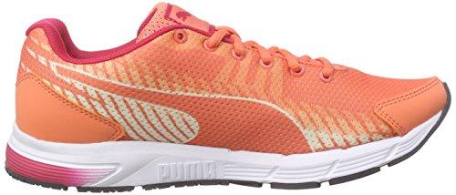 Puma Sequence V2 Wn - Zapatillas de running Mujer Naranja - Orange (fluo peach-rose red-white 03)