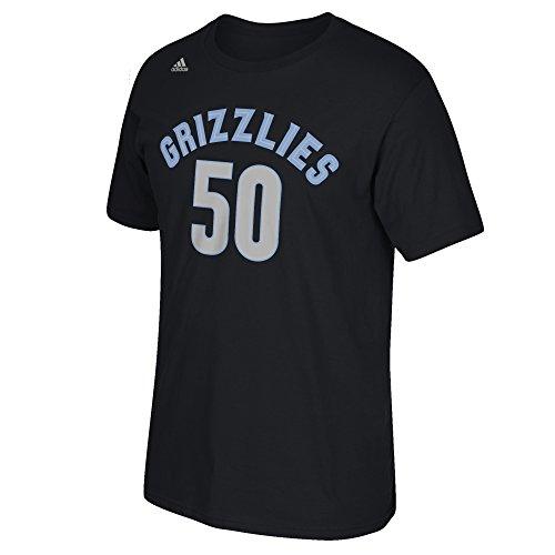 (NBA Memphis Grizzlies Zach Randolph #50 Men's Game Time Short Sleeve Go-To Tee, Large, Black)