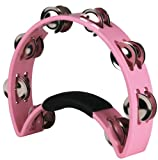 Rhythm Tech RT 1060 Tambourine, Pink, For the Cure, Nickel Jingles