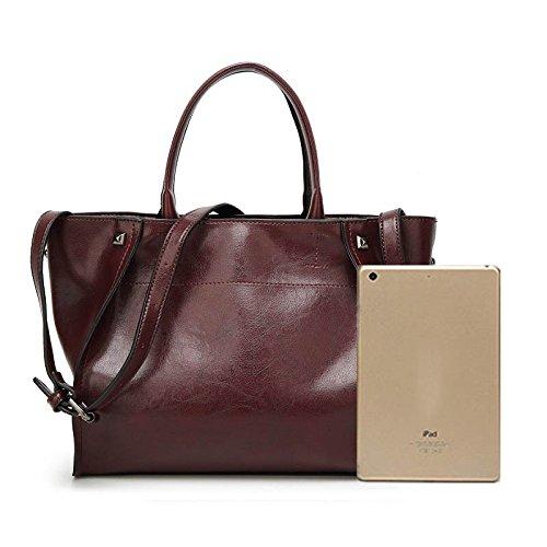 Grande à Femme bandoulière sacs Rose Solides Pink cuir à Femme Sac en Sac femmes Designer sacs Capacité main FzzPO