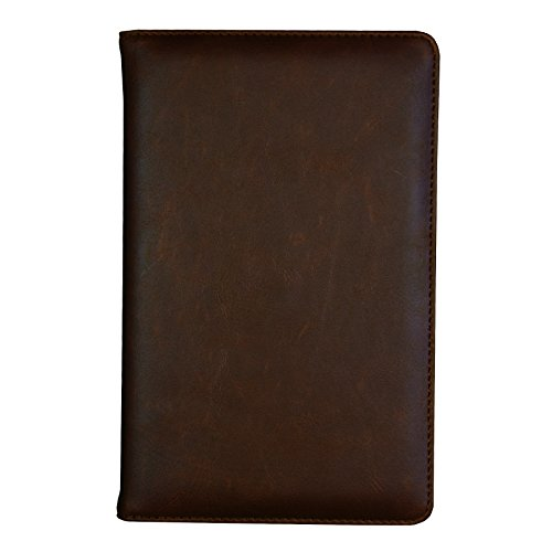 Samsill Vintage Refillable Writing Notebook, Soft Padded Cover, Classic Size, 5.25 Inch x 8.25 Inch, 120 Ruled Sheets (240 Pages), Brown (Diary, Journal)
