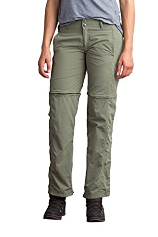 ExOfficio Women's BugsAway Sol Cool Ampario Convertible Pant, Bay Leaf, 16 (Womens Adventure Pants)