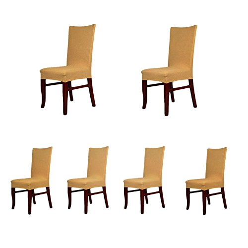 6 x soft fit twill stretch dining room chair covers for 6 dining room chair covers