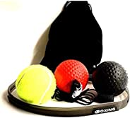 Boxing Reflex Ball Gear with Headband Difficulty Level Training Balls On String Punching Fight React Head Ball
