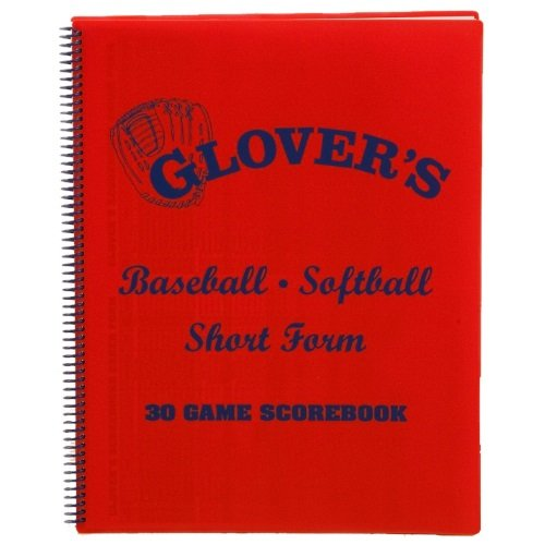 Glovers Scorebooks Short Form Baseball/Softball Scorebook (30 Games) Glovers Scorebook