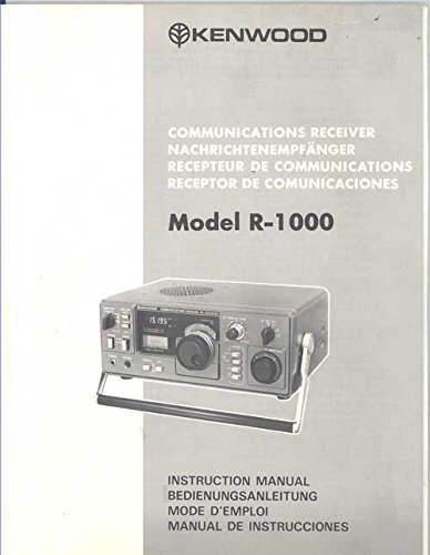 Kenwood Communications Receiver Model R-1000 Instruction Manual - Kenwood Receiver Manuals