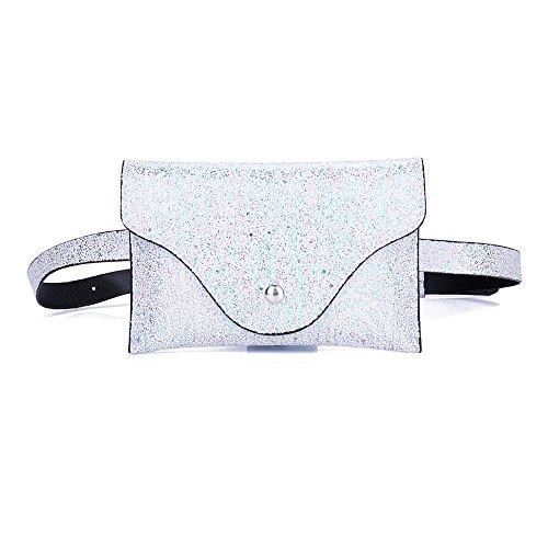 Casual Robemon Bag Waist Messenger Bag Fashion Bum Messenger Women Leather Bag C Sequins Chest Pack xATxqC