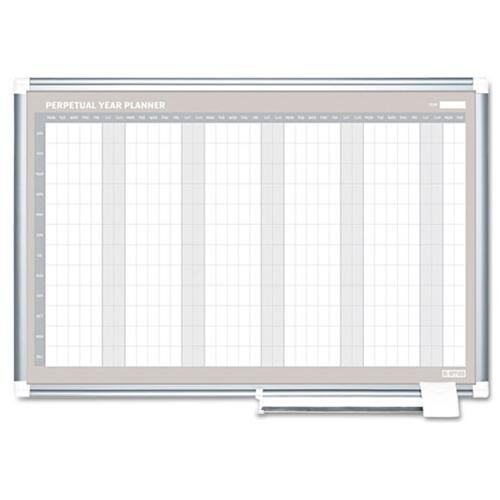 BVCGA0594830 - Bi-silque MasterVision Perpetual Year Planner by MasterVision