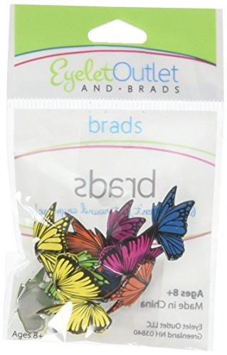 EYELET OUTLET 22 Shape Brads 12/Pkg-Flying Butterflies by EYELET OUTLET
