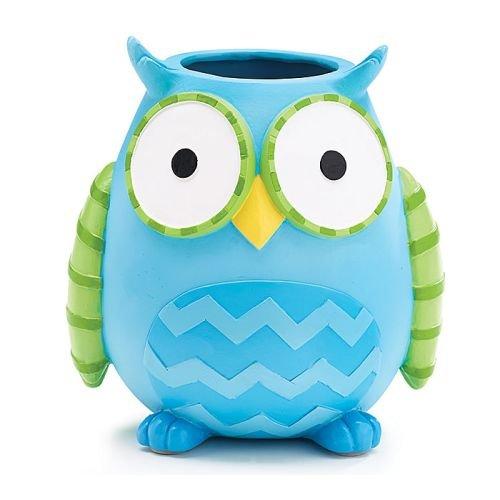 whimsical 6 tall owl flower vaseplanter cute baby nursery or home decor - Owl Decor